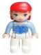 Minifig No: 47394pb154  Name: Duplo Figure Disney Princess, Ariel / Arielle (Lego Ville)