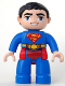 Minifig No: 47394pb175  Name: Duplo Figure Lego Ville, Male, Superman