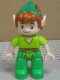 Minifig No: 47394pb184  Name: Duplo Figure Lego Ville, Never Land Pirates, Peter Pan