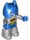 Minifig No: 47394pb187  Name: Duplo Figure Lego Ville, Batman, Blue Cowl