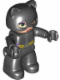 Minifig No: 47394pb188  Name: Duplo Figure Lego Ville, Catwoman