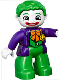 Minifig No: 47394pb189  Name: Duplo Figure Lego Ville, The Joker (10544)