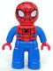 Minifig No: 47394pb192  Name: Duplo Figure Lego Ville, Spider-Man