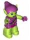 Minifig No: 47394pb193  Name: Duplo Figure Lego Ville, Green Goblin