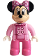 Minifig No: 47394pb259  Name: Duplo Figure Lego Ville, Minnie Mouse, Bright Pink Jacket, Dark Pink Legs