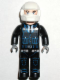 Minifig No: 4j007  Name: Police - Black Legs, Black Jacket, White Helmet, Light Flesh Head