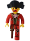 Minifig No: 4j014  Name: Pirates - Captain Redbeard