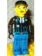 Minifig No: 4j017  Name: Police - Blue Legs, Black Jacket, Black Cap