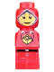 Minifig No: 85863pb011  Name: Microfig Creationary Red
