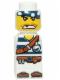 Minifig No: 85863pb019  Name: Microfigure Pirate Plank Pirate White