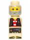 Minifig No: 85863pb022  Name: Microfigure Pirate Plank Pirate Tan