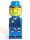 Minifig No: 85863pb026  Name: Microfigure Magma Monster Blue