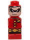 Minifig No: 85863pb102  Name: Microfig Batman Robin