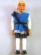 Minifig No: Belvmale11a  Name: Belville Male - Prince Justin - White Shirt with Laces and Royal Crest Logo Pattern, Vest with Black Belt