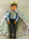 Minifig No: Belvmale18a  Name: Belville Male Black Pants, Light Blue Shirt with White and Gold Fur Pattern on Shoulders, Cloak, Crown