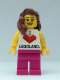 Minifig No: LLP001  Name: LEGOLAND Park Female, I Brick LEGOLAND Top