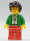Minifig No: adv018  Name: Miss Gail Storm (Dino Island) with Aviator Helmet and Goggles
