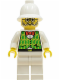 Minifig No: adv026  Name: Dr. Kilroy - Green Vest, White Legs