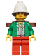 Minifig No: adv044  Name: Miss Gail Storm (Jungle) with Pith Pelmet, Backpack