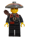 Minifig No: adv047  Name: Dragon Fortress Guard - Conical Straw Hat, Quiver
