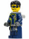 Minifig No: agt004  Name: Agent Chase - Dual Sided Head, Neck Bracket