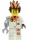 Minifig No: agt013  Name: Dr. Inferno (Pearl Light Gray Claw)