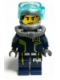 Minifig No: agt020a  Name: Agent Chase - Diving Gear - Single Sided Head