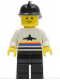 Minifig No: air001  Name: Airport - Classic, Black Legs, Black Fire Helmet