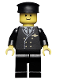 Minifig No: air002  Name: Airport - Pilot, Black Legs, Black Hat