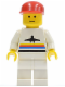 Minifig No: air003  Name: Airport - Classic, White Legs, Red Cap