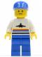 Minifig No: air005  Name: Airport - Classic, Blue Legs, Blue Cap