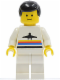 Minifig No: air012  Name: Airport - Classic, White Legs, Black Male Hair