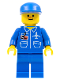 Minifig No: air018  Name: Airport - Blue, Blue Legs, Blue Cap