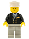 Minifig No: air019  Name: Airport - Pilot, Light Bluish Gray Legs, White Hat