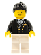 Minifig No: air020  Name: Airport - Pilot, White Legs, Black Ponytail Hair
