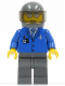 Minifig No: air041  Name: Airport - Blue 3 Button Jacket & Tie, Chopper Pilot (set 2230)