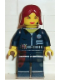 Minifig No: alp013  Name: Cam, Mission Deep Sea, Dark Red Female Hair