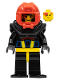 Minifig No: aqu006a  Name: Aquashark 1 with Black Flippers