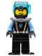 Minifig No: aqu016a  Name: Aquaraider Diver 2 with Black Flippers