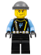 Minifig No: aqu018  Name: Aquaraider Diver 4 - Dark Bluish Gray Knit Cap