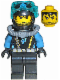 Minifig No: aqu022  Name: Aquaraider Diver 8