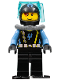 Minifig No: aqu026  Name: Aquaraider Diver 9 with Black Flippers