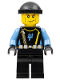 Minifig No: aqu027  Name: Aquaraider Diver 4 - Black Knit Cap