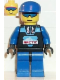 Minifig No: arc003  Name: Arctic - Black, Blue Cap