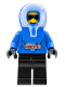 Minifig No: arc005  Name: Arctic - Blue, Blue Hood, Black Legs