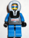 Minifig No: arc010  Name: Arctic - Black, Black Hood