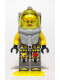 Minifig No: atl014  Name: Atlantis Diver 6 - Jeff Fisher - With Yellow Flippers and Trans-Yellow Visor