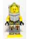 Minifig No: atl022  Name: Atlantis Diver 5 - Samantha Rhodes - With Yellow Flippers and Trans-Yellow Visor