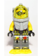 Minifig No: atl023  Name: Atlantis Diver 7 - Brains - With Yellow Flippers and Trans-Yellow Visor