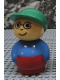 Minifig No: baby008  Name: Primo Figure Boy With Red Base, Blue Top, Green Hat, Glasses
